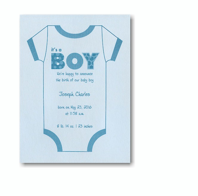 Birth announcement template out of darkness - Its a boy here are some room ideas for a newborn ...