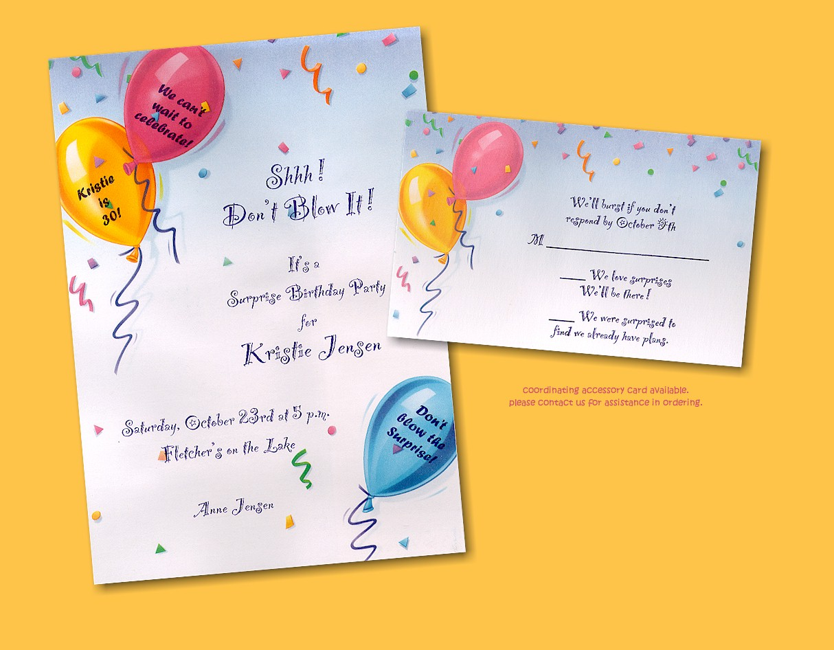 Birthday Party Invitation Cards