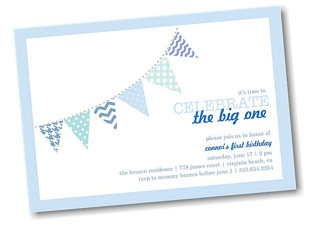 Festive Banner Birthday Party Invitation