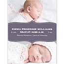 Baby Banner in Violet Birth Announcement Magnet