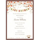 Baby Bird in Fall Baby Shower Invitation