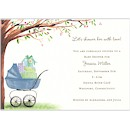 Beautiful Bassinet Blue Baby Shower Invitation