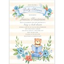 Book in Blue Baby Shower Invitation