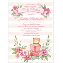 Book in Pink Baby Shower Invitation