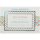Chevron 1st Birthday Party Invitation