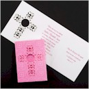 Embossed Cross in Pink Baptism Invitation
