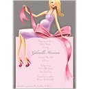 Expecting a Big Gift Pink/Blonde Invitation