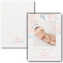 Floral Baby Photo Birth Announcement