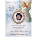 Glowing Guardian Angel Baptism Invitation Scroll