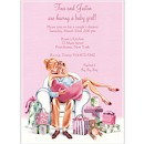 Kisses for Baby Pink/Blonde Baby Shower Invite