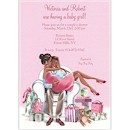 Kisses for Baby Pink/Cultural Baby Shower Invite