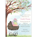 Leopard Print Carriage Baby Shower Invitation