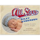 Little All Star Photo Birth Announcement