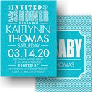Little Typography Baby Shower Invitation