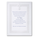 Pearlized Cross Baptism Invitation