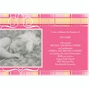 Precious Plaid in Fucshia Birth Announcement