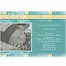 Precious Plaid in Teal Birth Announcement