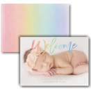 Rainbow Welcome Photo Birth Announcement