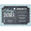 Rattle Baby Chalkboard Blue Baby Shower Invitation