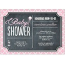 Rattle Baby Chalkboard Pink Baby Shower Invitation