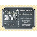 Rattle Chalkboard Yellow Baby Shower Invitation