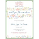 Retro Floral Baby Shower Invitation
