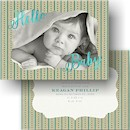 Sparkle Baby Photo Birth Announcement