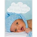 Thank Heaven Boy Photo Birth Announcement