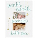 Twinkling Star Photo Birth Announcement