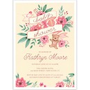 Vintage Baby Banner in Pink Baby Shower Invitation