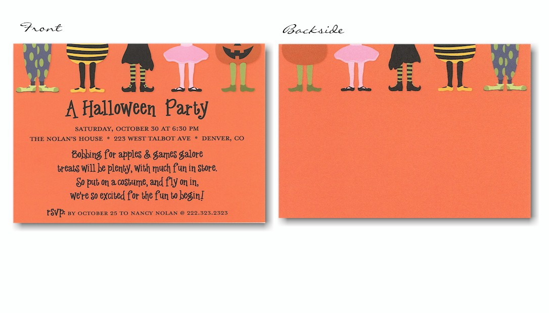 Costume Party Halloween Party Invitation – Kids Halloween Party Invites