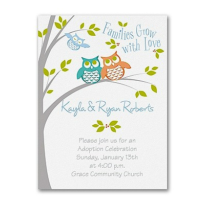 Look Who's Adopting Baby Shower Invitation