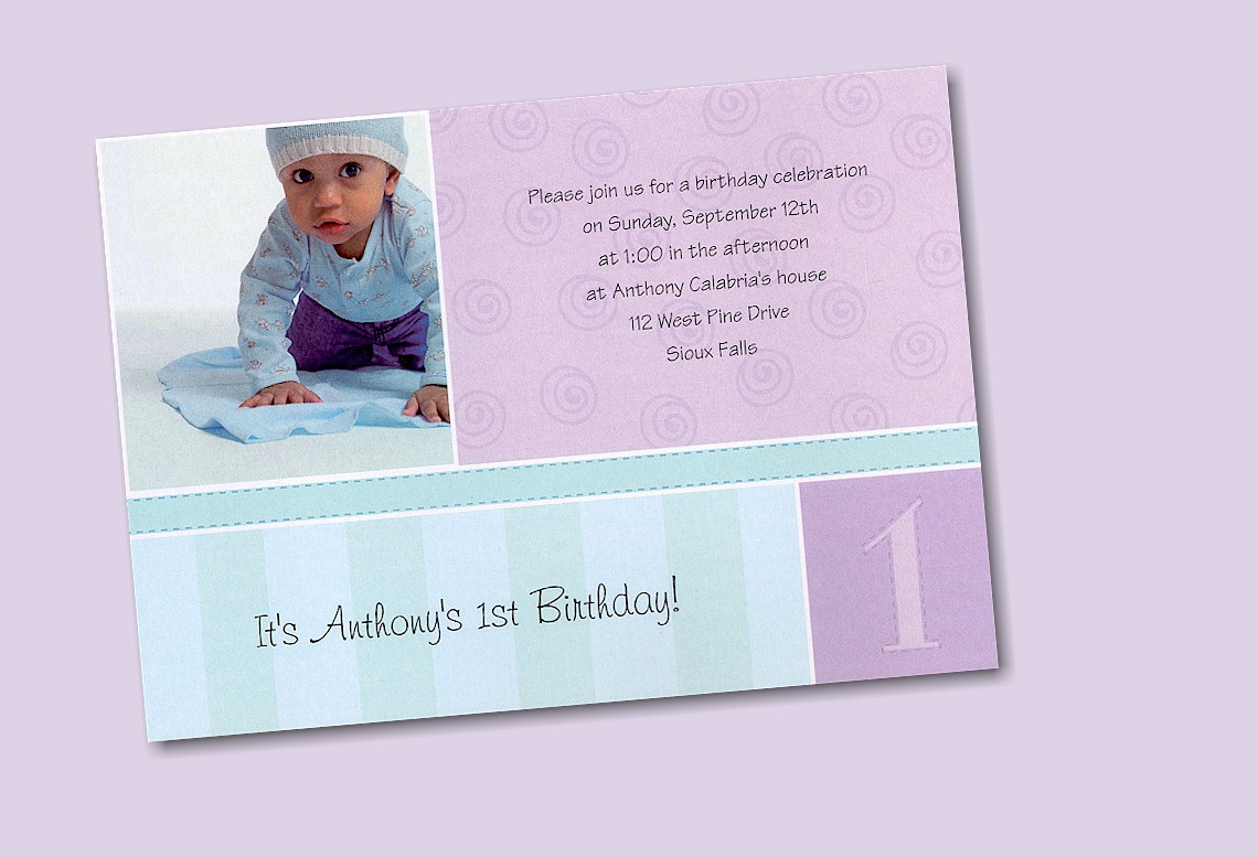 Look Who's One! First Birthday Invitation