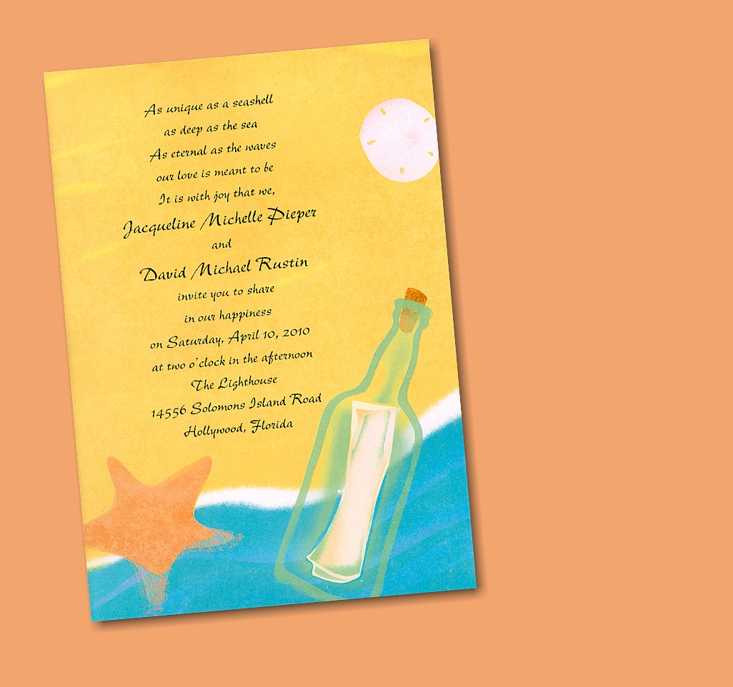 Message In A Bottle Wedding Invitations Wording Cheap Mint – Message in a Bottle Birthday Invitations