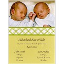 Twice As Nice Birth Announcement