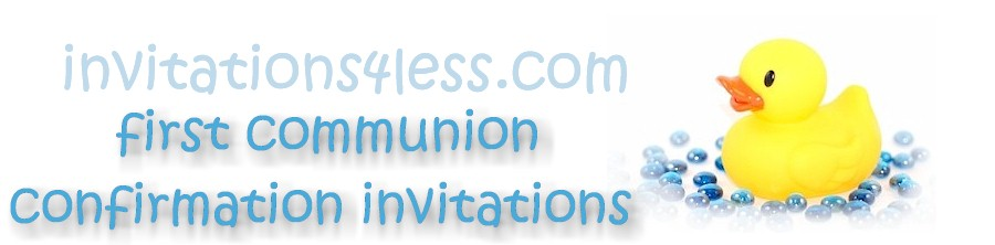 First Communion/Confirmation Invitations Sample Wording